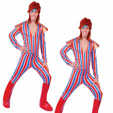 Mens Ziggy Stardust Costume David Bowie Mens Adults 70s 80s Fancy Dress Outfit