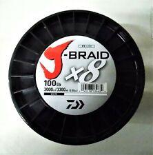 Daiwa J Braid X8 Multicolor Braided Fishing Line 30lb. 3300 Yds
