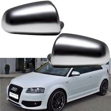 2 COQUE RETROVISEUR AUDI A4 B6 B7 A3 8P A6 4F C6 2000-2008 ALU MAT LOOK S RS