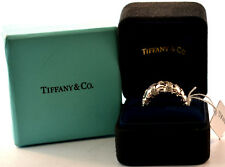 fa1589271 TIFFANY & CO. VANNERIE COLLECTION 18K WHITE GOLD DIAMOND WEAVE RING SIZE 6 1 /