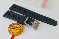 100% Genuine New Breitling Blue Caoutchouc Ocean Racer Tang Buckle Strap 20-18m