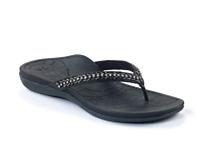 Aetrex Womens Jules BLACK Sandal AE500W Choose Sizes Free shipping NIB
