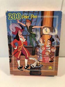 Vintage Disney Peter Pan Jigsaw Puzzle Complete 200 Pieces Golden