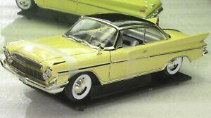 1961 DESOTO ADVENTURER YELLOW 1;18 NEW IN BOX.