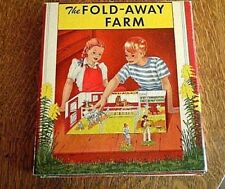 Vintage Rare 1950 Fold Away Farm Book Nice Condition Missing Free Standing Figur