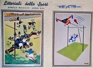 DESETA LITTORIALI DELLO SPORT serie completa di 8 CARTOLINE 1935 PC