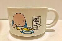 Vintage ZIGGY Fresh Clam Chowder Stoneware Mug 1980 Tom Wilson Soup Coffee Mug