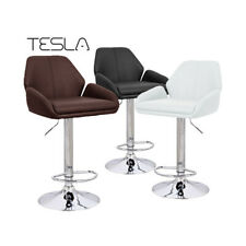 NEW! MODERN LEATHER BAR STOOL ADJUSTABLE - ADJUSTING HEIGHT BARSTOOL CHAIR-TESLA