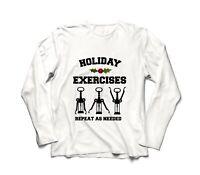 Holiday Exercises Wine Opener Funny Christmas T-Shirt Long Sleeve Shirt Gift