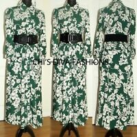 "EX ZARA Floral Printed Midi Shirt Dress Size UK 6-16  Length = 49"" Approx."