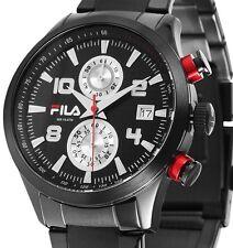 Herren Armbanduhr Chronograph Silber/Schwarz Edelstahlarmband von FILA UVP 239,-