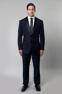 Men's Satin Shawl Lapel Tuxedo Black Tie Formal Wedding Tux Jacket With Pants