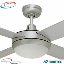 "MARTEC LIFESTYLE 52"" CEILING FAN WITH E27 LIGHT - DLS1344B - BRUSHED ALUMINIUM"