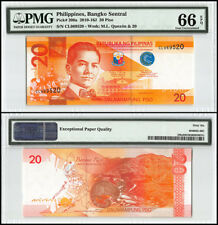 Philippines 20 Piso, 2014, P-206a, Manuel L Quezon, Malacanan Palace, PMG 66