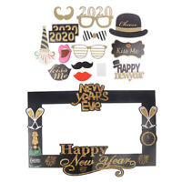 New Year Paper Photo Booth Props Picture Frame 2020 Selfie Props Party SuppliLF