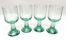 Four (4) Strahl New Zealand Polycarbonate Unbreakable Green Wine Goblets Glasses