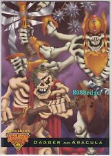 1995 FLEER ULTRA SKELETON WARRIORS LUMA BONE: DAGGER/ARACULA #3 GLOW IN THE DARK