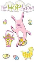 EASTER WHIMSY Rabbit Eggs Chick - Jolee's Le Grande Scrapbook Sticker