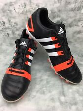 Adidas FF80 Size 10 uk Black Orange 3 Stripes Rugby Trainers Boots Shoes Men's
