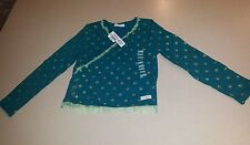 Naartjie 5 LS Sparkle Ballerina Glitter Star Shirt Hip Green BACK TO SCHOOL!