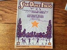 1922 Fox Trots, Blues, Waltzes Dance Folio No 23, Popular Songs For Piano