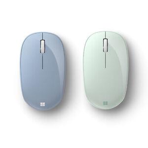 Microsoft Bluetooth Mouse Pastel Blue + Bluetooth Mouse Mint - Wireless - Blueto