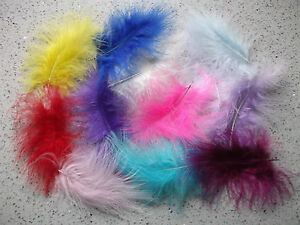 20 large 10 - 15 cms long marabou feathers in a choice of colours or mixed packs