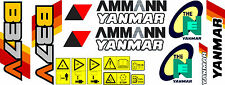YANMAR B37V Escavatore decalcomania Set