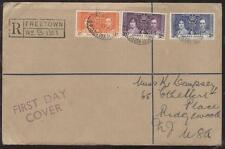 FDC FIRST DAY OF ISSUE COVER KING GEORGE VI 1937 CORONATION STAMPS GRENADA