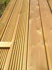 Redwood treated decking 4.8m x 120mm x 28mm grooved one side smooth the other