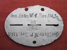"""Détection de marque """"Gen. battr.wf.ers.abt.1."""" en aluminium très rare!"""