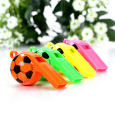 10Pcs Colorful Soccer Design Whistle Cheerleading Cheering Props Party Supplies~