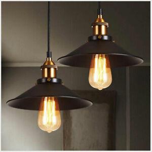 2PCS Set Ceiling Pendant Lamp Light Retro Industrial Metal Hanging Lighting