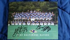 2002 Baltimore Ravens Team Picture Signed by 2 Players