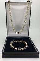Mens 18k GF Luxury  Belcher Necklace Chain  Bracelet  8-16mm Heavy Links 18ct