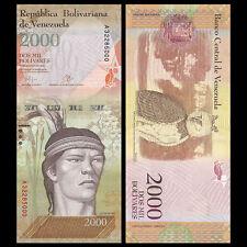 Venezuela 2000 2,000 Bolivares, 2016/2017,  P-NEW, GOLD, UNC