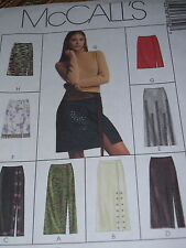 McCALL'S #3725- LADIES ( 8 STYLE ) TWO LENGTH SKIRT w/FRONT SLIT PATTERN 12-18uc