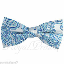 Turquoise New Men's Paisley Pre-tied Bow tie Wedding Formal Party Prom Wedding