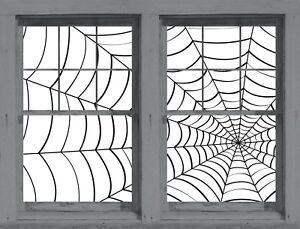 Spider Webs Spiderweb Web Wowindow Window Poster Halloween Decoration NEW