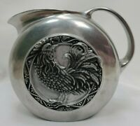 Carson Statesmetal Pewter Rooster Chicken Pitcher Hand Poured Farmhouse Decor