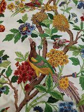 Richloom Whippoorwill Bird Floral Vine 1+ Yards Lot Fabric Home Decor, Pillows