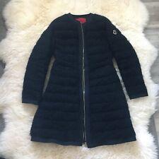 NEW MONCLER GAMME ROUGE BOUCLE BLACK GOOSE DOWN PARKA JACKET Coat 1 S