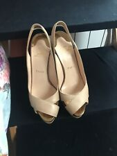 Christian Louboutin nude slingback shoes 36.5 In Great Condition Hardly Worn