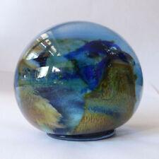 Blue Paperweight Hand Blown Glass