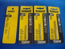 LOT OF SEVEN DEWALT TITANIUM HIGH SPEED STEEL HSS DRILL BIT ASSORTMENT SET