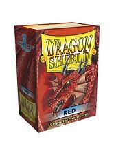 Dragon Shields Standard Size Card Protector Sleeves MTG Pokemon 100ct red