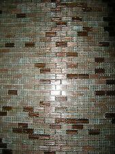 20 Fogli Mosaico Vetro Mix Rame tassello 1x2 cm
