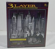 Architectural Fantasy 3 Layer Jigsaw Puzzle Skylines