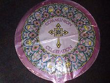 Communion Celebration Pink Mylar Balloon