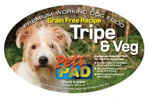 Premium Complete, GRAIN FREE Adult Dog Food Sample, Tripe & Veg, Salmon & Potato